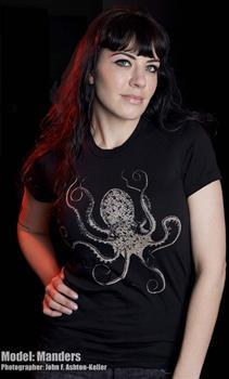 OCTOPUS - girl fitted shirt