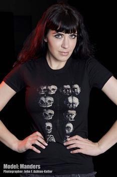 PATHOLOGY SKULL CHART - girl fitted shirt