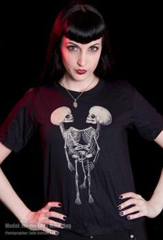 3 LEGGED CONJOINED TWINS FETAL SKELETON - T shirt