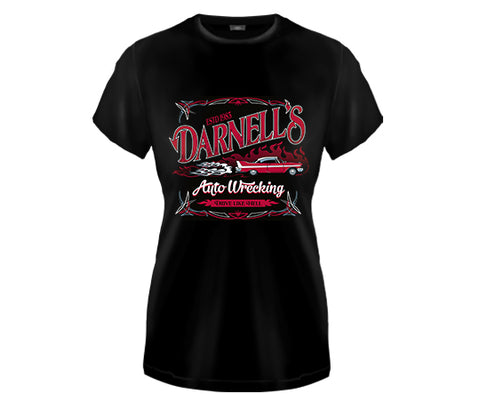 CHRISTINE - Darnells Auto Wrecking Girls Fitted T Shirt