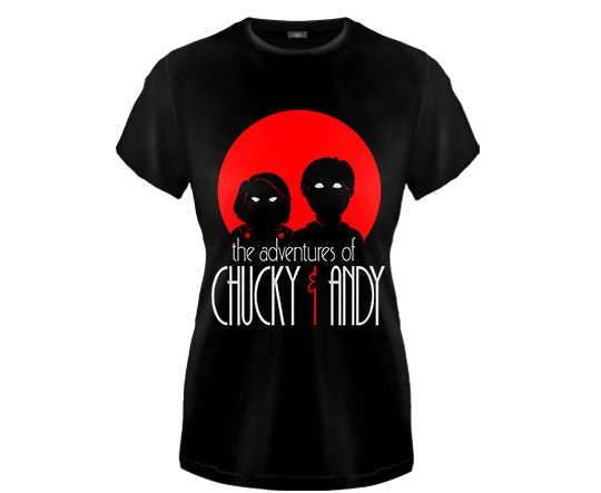 CHILD'S PLAY - Adventures of Chucky & Andy Girls Fitted T Shirt