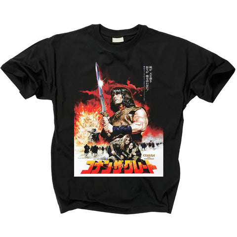 CONAN THE BARBARIAN - Conan Japanese Poster T Shirt