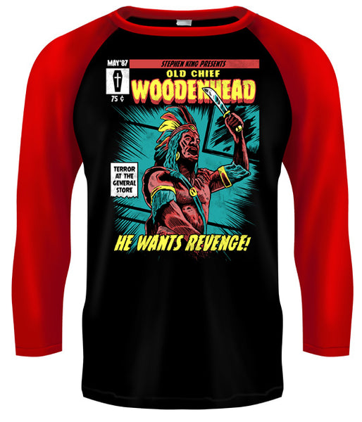 CREEPSHOW 2 - Old Chief Woodenhead Baseball Style T Shirt