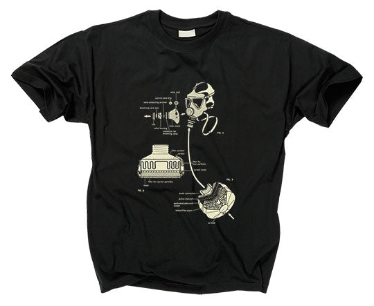 GASMASK DIAGRAM - T shirt