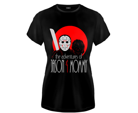 FRIDAY THE 13TH - Adventures of Jason & Mommy Girls Fitted T Shirt
