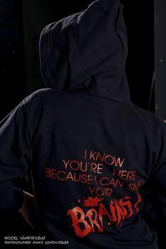 SMELL BRAINS - zipper Sweatshirt Hoodies