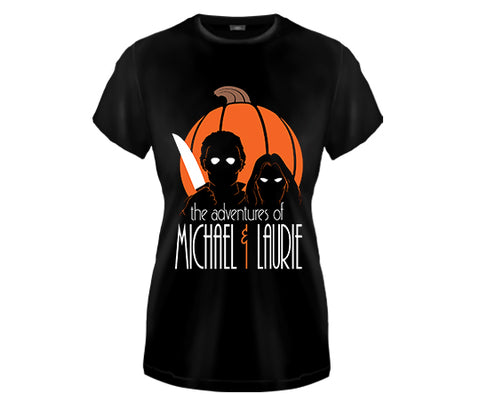 HALLOWEEN - Adventures of Michael and Laurie Girls Fitted T Shirt