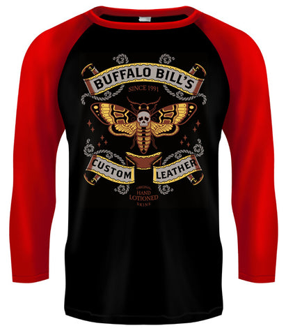 SILENCE OF THE LAMBS - Buffalo Bill's Custom Leather Baseball Style T Shirt