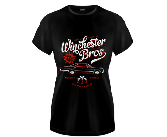 SUPERNATURAL - Winchester Brothers Girls Fitted T Shirt
