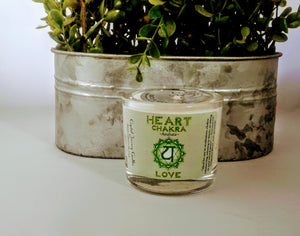 Heart Chakra Soy Votive Holder Candle