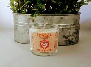 Sacral Chakra Soy Votive Holder Candle