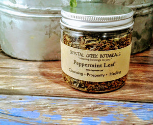 Peppermint Leaf 4 oz Jar Full