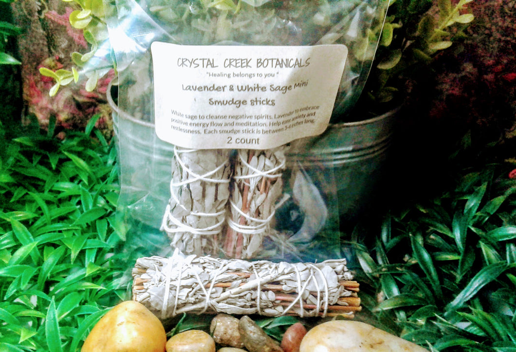 Lavender & White Sage Mini Smudge Sticks