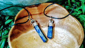 Sliver Plated Pencil point Lapis with Crystal Ball
