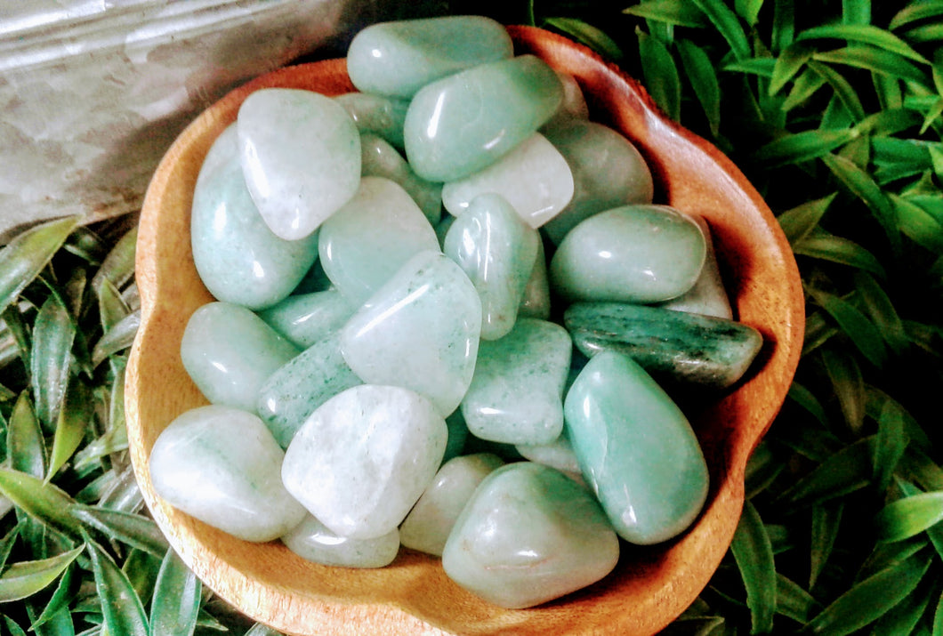 Green Aventurine Tumbled Stones (3 piece)