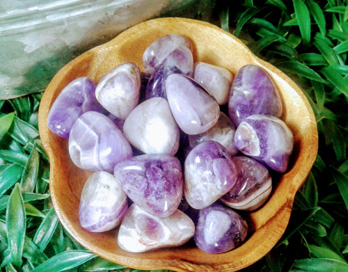 Amethyst tumbled stones Healing crystals