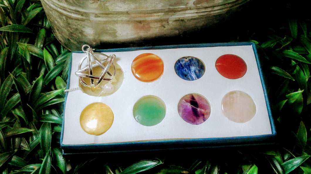 Pentagram Chakra Pendulum Set (Changeble)