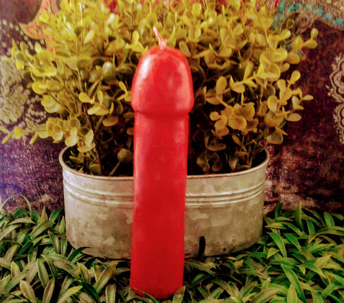 Red Male Genital Candle
