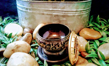 Brass Charcoal Burner with Coaster Small