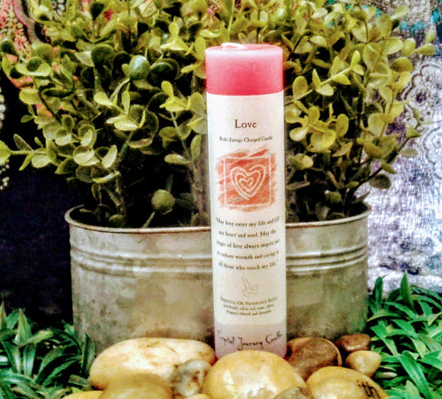 Love Herbal Magical Pillar Candle