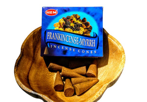 HEM Frankincense-Myrrh Incense cones From India