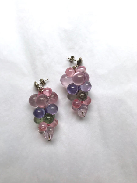 Vintage bunch of grapes earrings