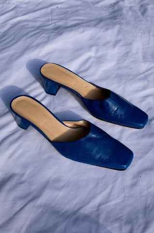 ULTRAMARINE LEATHER MULES (39)