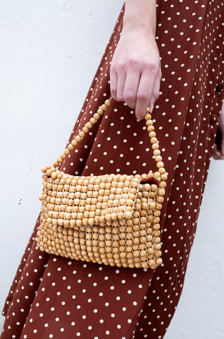 HANDMADE WOODEN BEAD BAG