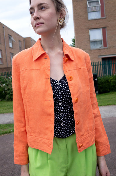 ORANGE IRISH LINEN JACKET