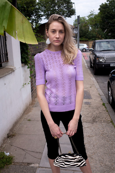 LILAC POINTELLE JUMPER