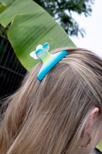 TURQUOISE BOW HAIR CLIP