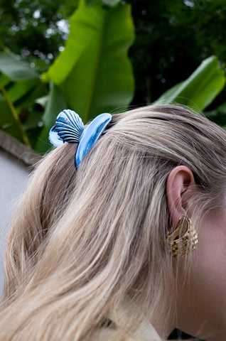METALLIC SHELL HAIR CLIP