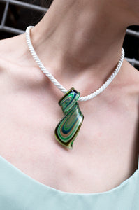 MURANO GLASS TWIST NECKLACE