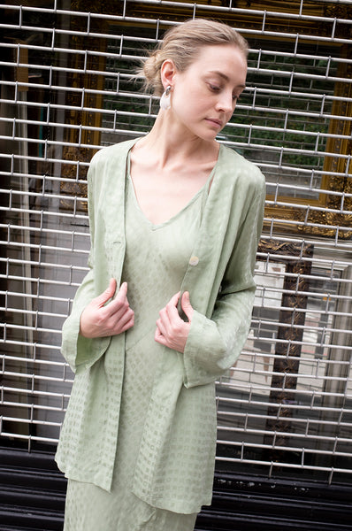 SAGE JACQUARD DRESS SUIT