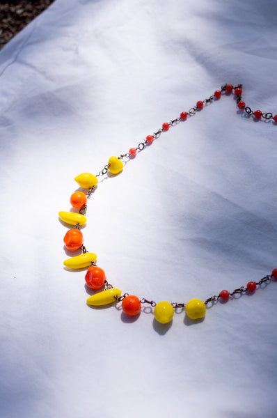 GLASS FRUIT BEAD NECKLACE