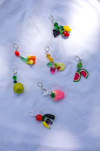 SINGLE GLASS FRUIT EARRINGS