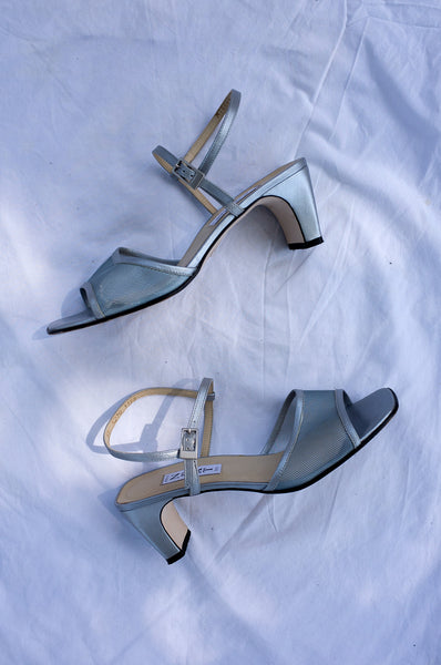 SILVER MESH SANDALS (39)