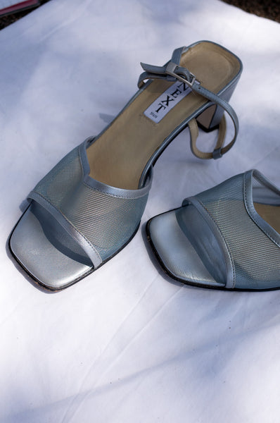 SILVER MESH SANDALS
