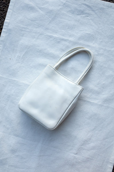 WHITE MINI GLITTER BAG