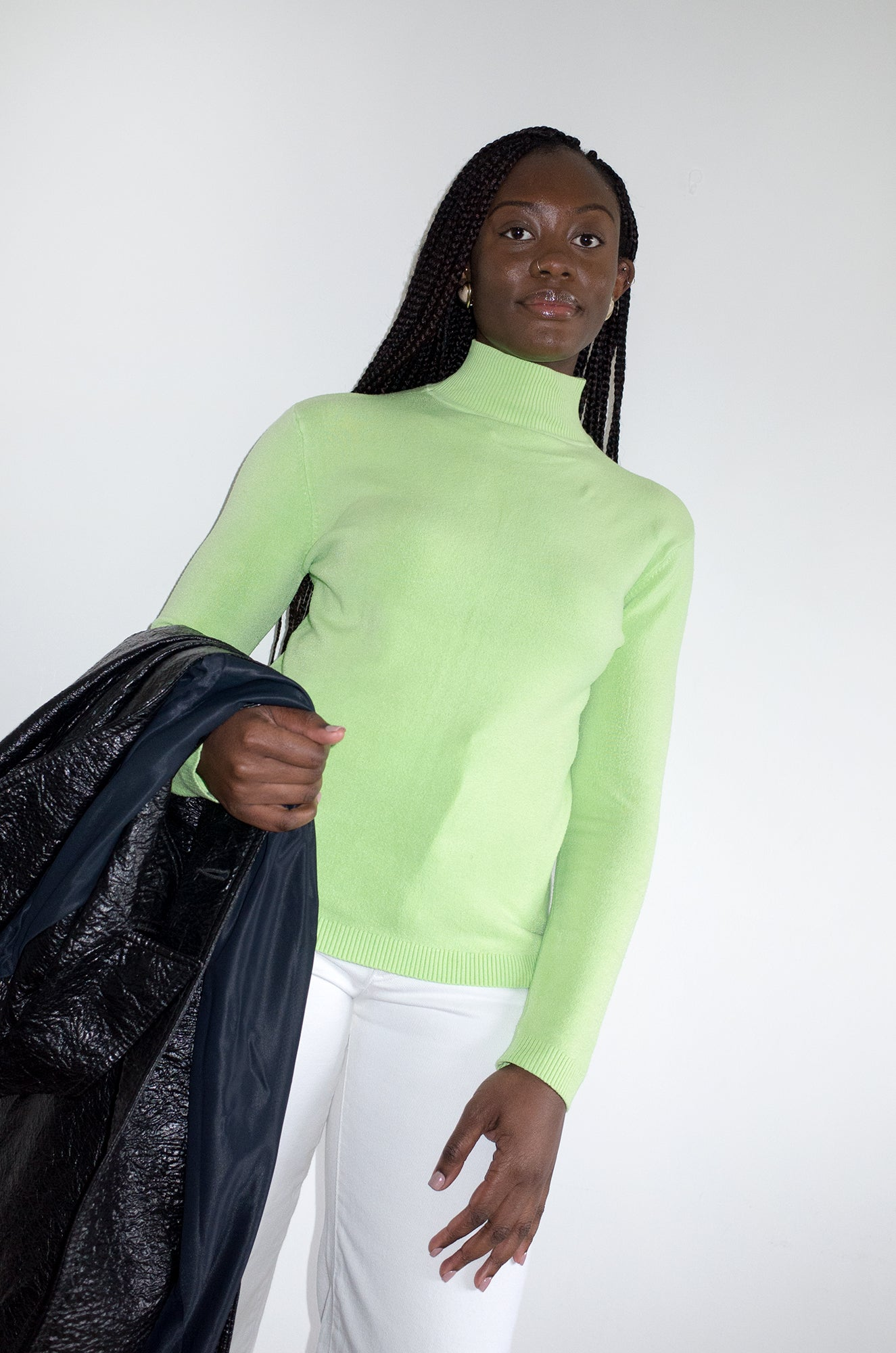 Vintage Y2K neon lime green jumper