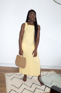 Vintage Y2K light yellow sleeveless sun dress