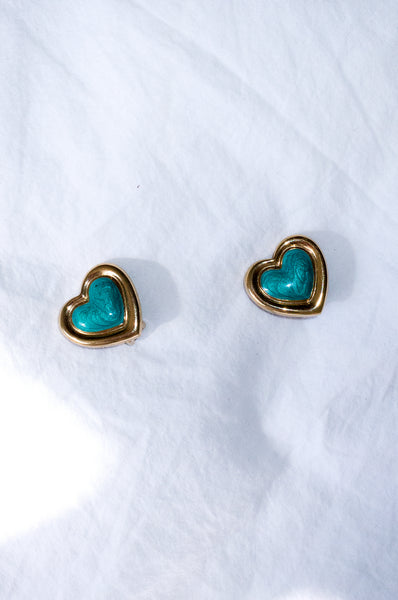 HEART SHAPE SHIMMER EARRINGS