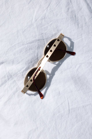 Vintage 1990s tortoiseshell sunglasses by Morgan de Toi.