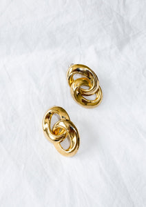 Vintage 1980s gold-tone earrings