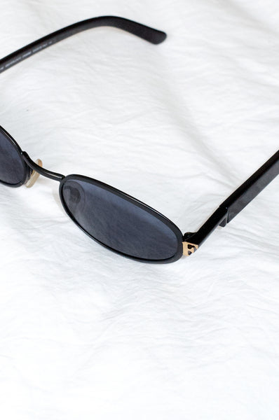 Vintage 1990 black sunglasses by Gianfranco Ferre