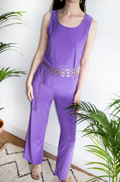 Vintage Y2K flowing trousers with elasticated waist. Part of a four-piece coordinating set.