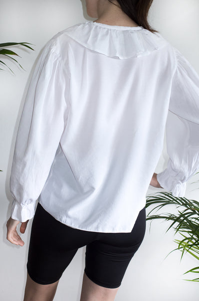Vintage 1980s white New Romantic blouse