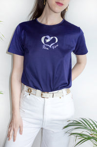 Vintage deep purple short sleeve T-shirt by Nina Ricci