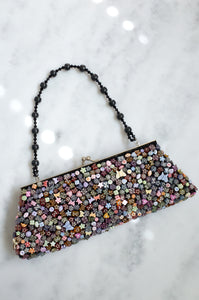 Vintage Y2K multicoloured beaded evening bag