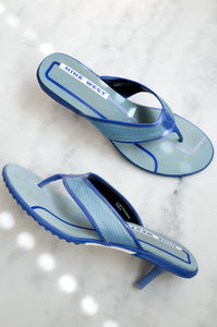 Vintage Y2K sporty lilac mules by Nine West.